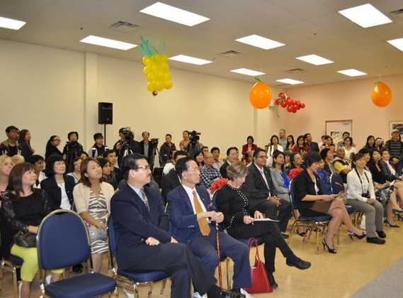 VIPs, community partners, clients and staff gathered at opening ceremony